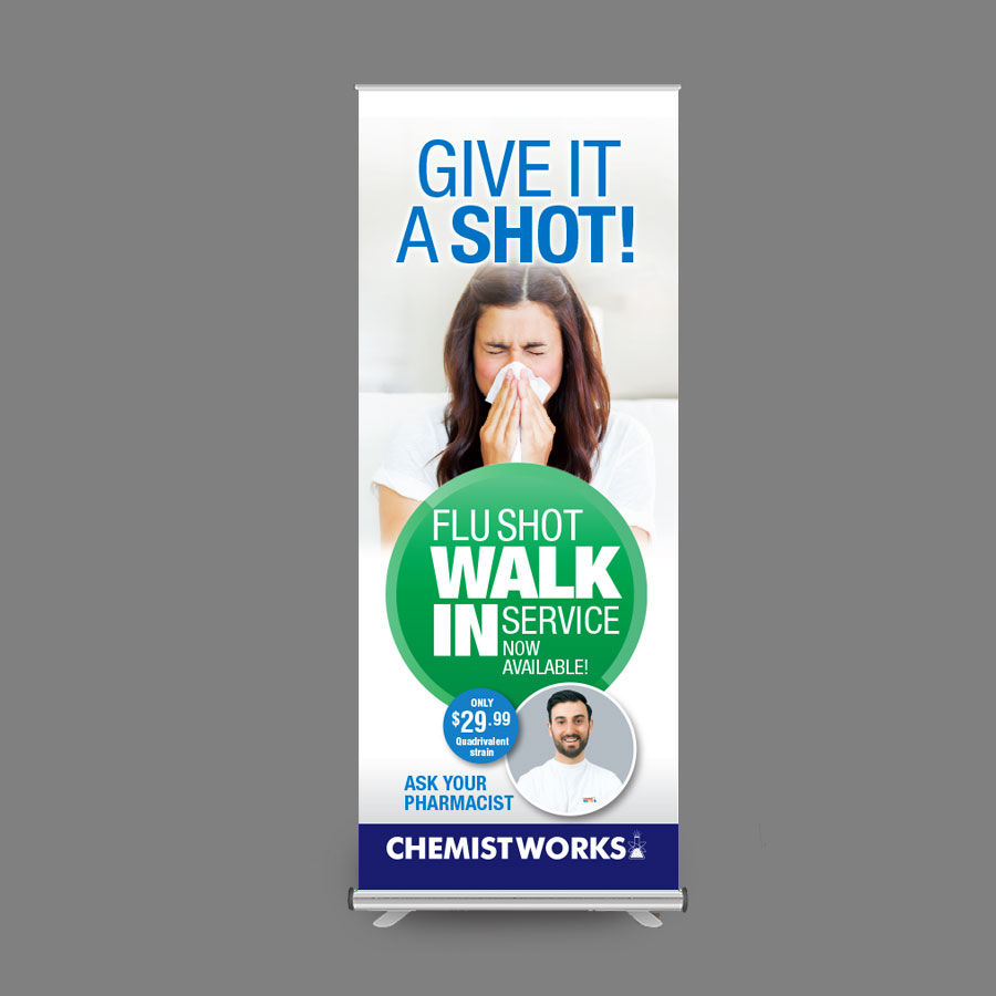 Give it a Shot Pull-up Banner