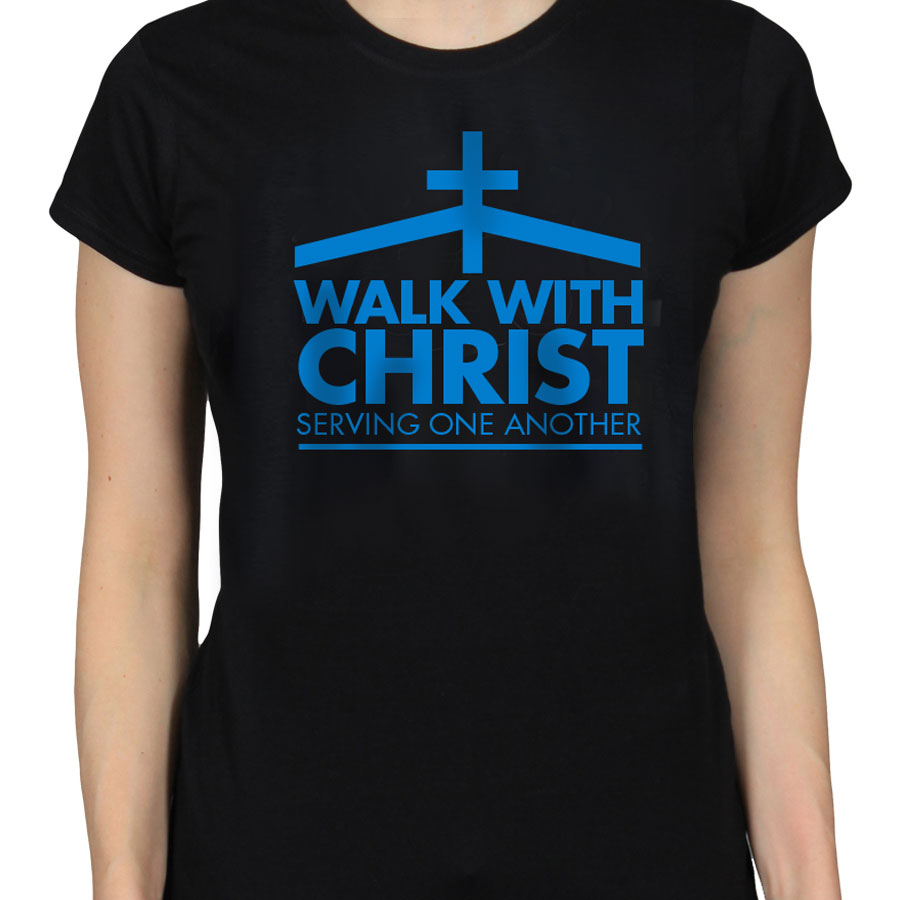 Walk with Christ Black T-Shirt