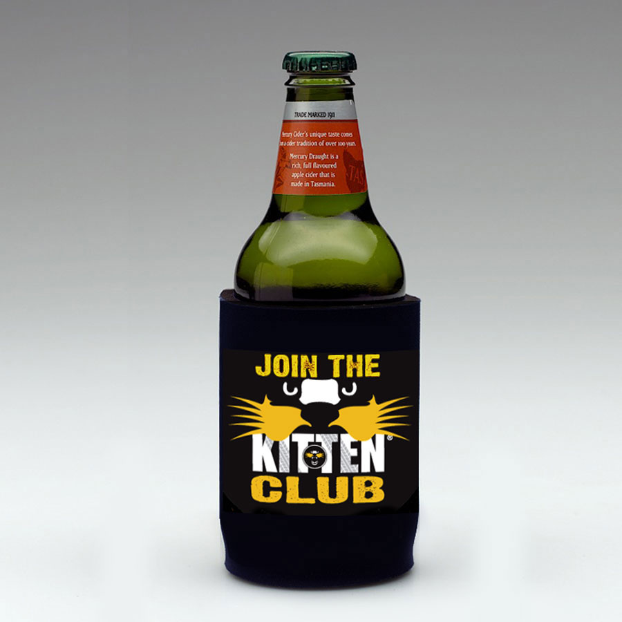 Join the KITTEN Club Beer Stubby Holder