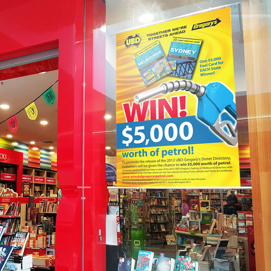 Dymocks Window Poster